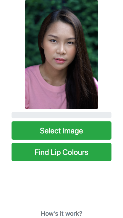 Lip Colour Finder Home Page